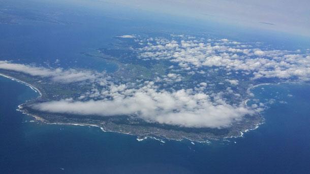 そして、そろそろ着陸☆房総半島がくっきりと見えます☆