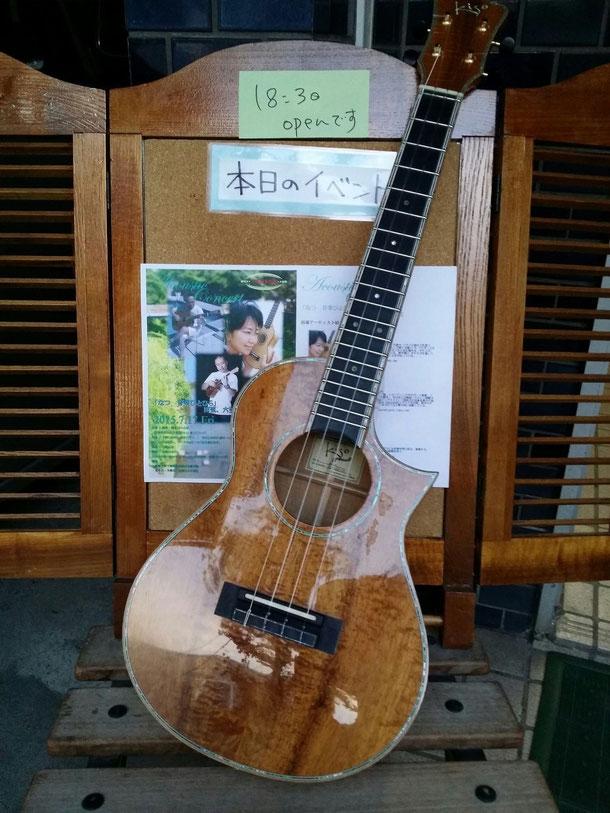 3日目の演奏会場!札幌市のひいらぎさんというレストラン☆入口に可愛いポスターが♪満員御礼☆ありがとうございました♪