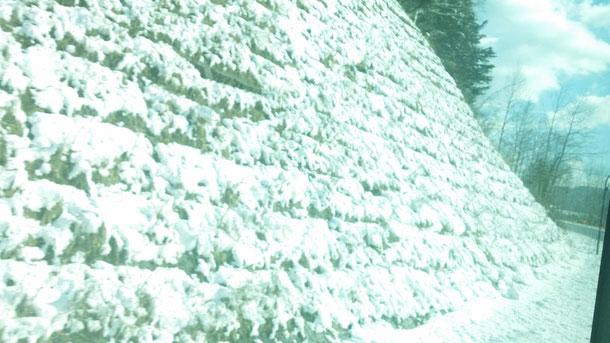 札幌駅から網走に向かってバスで移動!大雪山のあたりは既に雪がしっかりと積もってました!