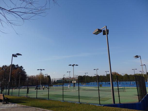 僕が毎日練習で通ったテニスコート!呼人トレーニングフィールド☆今回も日曜日だったので、当時一緒に練習してた網走市役所のテニス部の方たちが練習してました♪