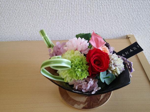 韓国ウクレレ協会の理事長、キム・チャングウソウさんからソロライブのお花が会場に届いてました!!