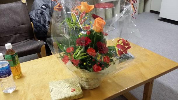 お花にプレゼント頂きました☆ありがとうございます!