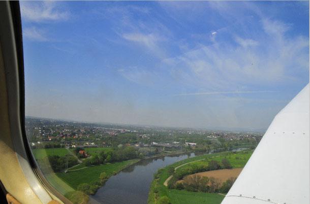 Ganz schön wackelig aus dem Flugzeug zu fotografieren