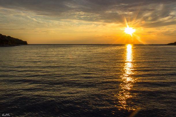 Mareda, Sonnenuntergang