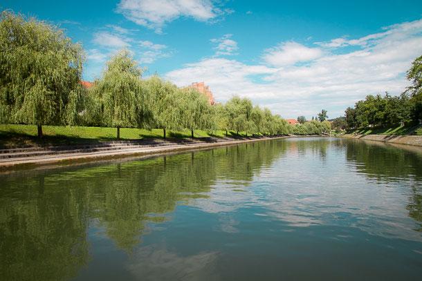 Flussfahrt in Laibach