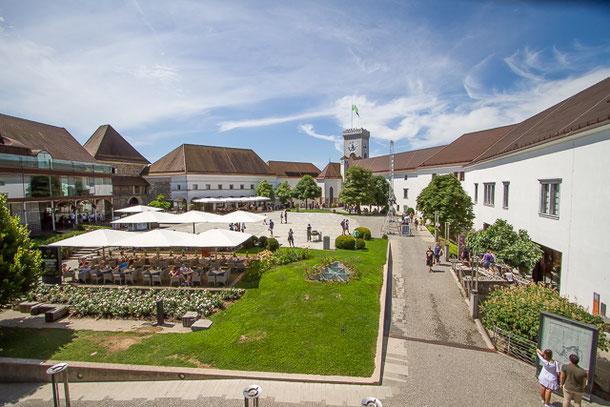 Schloss Laibach Innenhof