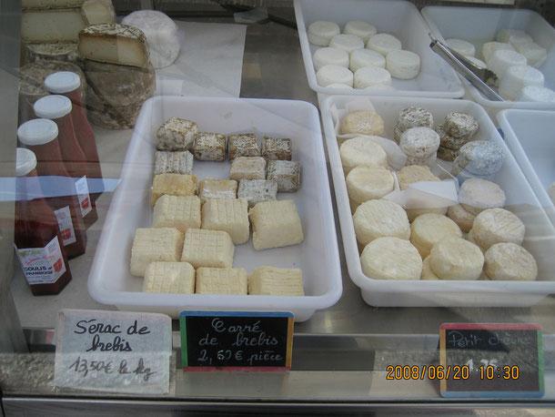 はじめてのフランス アヌシーマルシェのチーズショップ