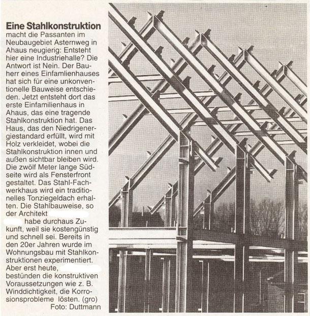 1998 war diese Bauweise im eher gediegenen Münsterland eine kleine Sensation - und es ist bis heute ein überaus stylisch-modernes Wohnhaus. Prädikat:  dauerhaft interessant...