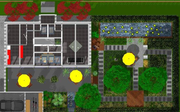 Hilfreiche Planung am PC - Lange Sichtachsen vergrößern den Garten optisch