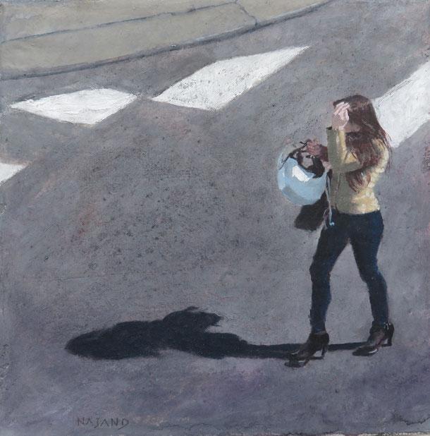 Mehrzad Najand . Acrylique sur toile - 20x20cm - étudiante  - 2016