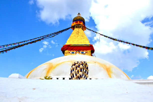 Kathmandu Inspiration - Stupa de Bodanath - Bracelet Acaï Graines végétales