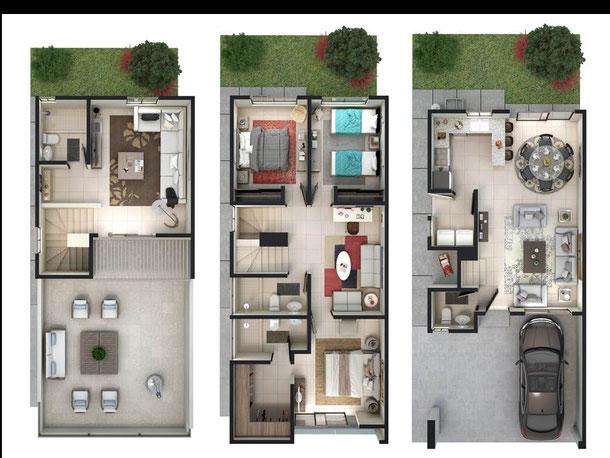 casa modelo loira katavia residencial, distribucion