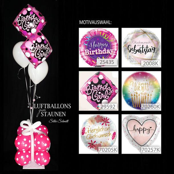 Ballon Luftballon Heliumballon Ballonbouquet Ballongeschenk Geburtstag Birthday Wünsch dir was happy Herzlichen Glückwunsch Deko Dekoration Geschenk Mitbringsel Versand verschicken Überraschung Ballonpaket Ballongruß Ballonbox Herz Paket