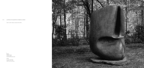 Jean-Pierre GHYSELS, sculpture nidation 200 x 150 x 147 cm cuivre battu, 1966 collection particulière, anvers — nesting 78.7 x 59.1 x 57.9 inches hammered copper, 1966 private collection, antwerp