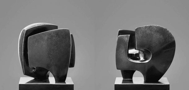 Jean-Pierre GHYSELS, sculpture bastide 18,5 x 15 x 10,5 cm bronze brut, poli et patiné, 1971, 5 ex. — bastide 7.3 x 5.9 x 4.1 inches polished, unpolished and patinated bronze, 1971, 5 ed.