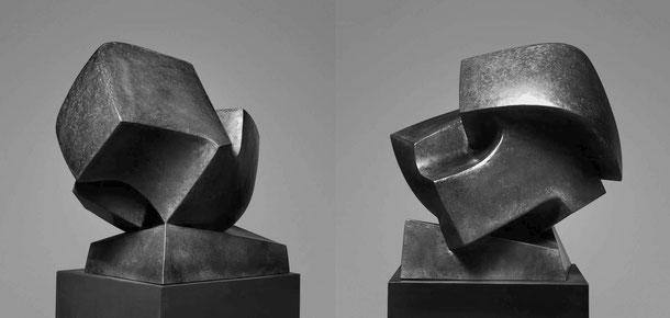 Jean-Pierre GHYSELS, sculpture falaise 62 x 65 x 43 cm cuivre battu, 2001 — cliff 24.4 x 25.6 x 16.9 inches hammered copper, 2001