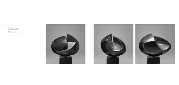 Jean-Pierre GHYSELS, sculpture défilé 14 x 26 x 23 cm bronze poli et patiné, 1973, 6 ex. collection famille mis (2/6) — gorge 5.5 x 10.2 x 9.1 inches polished and patinated bronze, 1973, 6 ed. 2/6: mis family collection