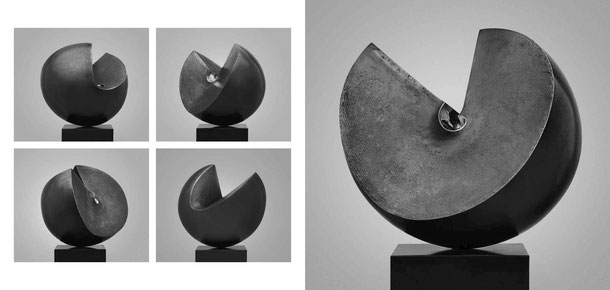 Jean-Pierre GHYSELS, sculpture tanit 41 x 34 x 31 cm bronze brut, poli et patiné, 1975, 3 ex. collection jacqueline et jacques dopchie, (1/3) — tanit 16.1 x 13.4 x 12.2 inches polished, unpolished and patinated bronze, 1975, 3 ed. 1/3: j. & j. dopchie