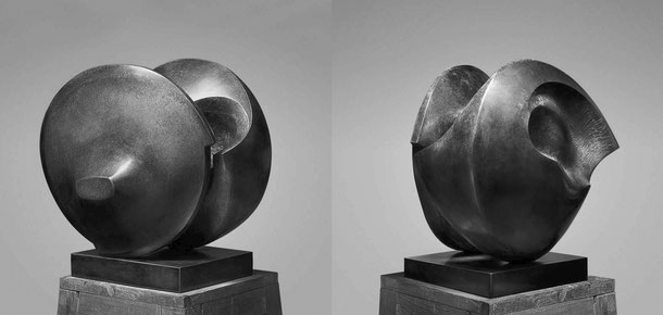 Jean-Pierre GHYSELS, sculpture soleil noir 46 x 46 x 46 cm bronze poli et patiné, 1978, 3 ex. collection particulière, bruxelles (2/3) — black sun 18.1 x 18.1 x 18.1 inches polished and patinated bronze, 1978, 3 ed. 2/3: private collection, brussels