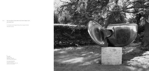 Jean-Pierre GHYSELS, sculpture l'un l'autre 117 x 220 x 110 cm bronze brut et poli, 1975 collection particulière, bruxelles — l'un l'autre (one another) 46.1 x 86.6 x 43.3 inches polished and unpolished bronze, 1975 private collection, brussels