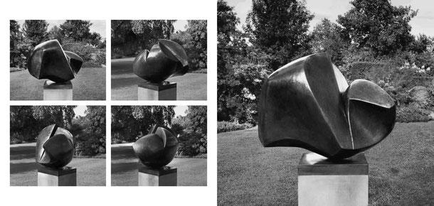 Jean-Pierre GHYSELS, sculpture éclosion 58 x 70 x 58 cm cuivre battu, 1981 collection jacqueline et jacques dopchie — unfolding 22.8 x 27.6 x 22.8 inches hammered copper, 1981 jacqueline and jacques dopchie collection