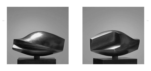 Jean-Pierre GHYSELS, sculpture flot 14 x 23 x 12 cm bronze poli et patiné, 1968, 5 ex. — swell 5.5 x 9.1 x 4.7 inches polished and patinated bronze, 1968, 5 ed.