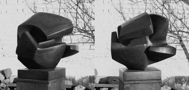 Jean-Pierre GHYSELS, sculpture l'insolite 80 x 76 x 74 cm cuivre battu, 1969 collection de l'état belge, no d'inventaire 11873 — weird 31.5 x 29.9 x 29.1 inches hammered copper, 1969 belgian state collection, no. 11873