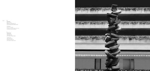 Jean-Pierre GHYSELS, sculpture upward ritual 1500 x 220 cm cuivre battu, 1970 hyatt regency o'hare, chicago —upward ritual 590.6 x 86.6 inches hammered copper, 1970 hyatt regency o'hare, chicago