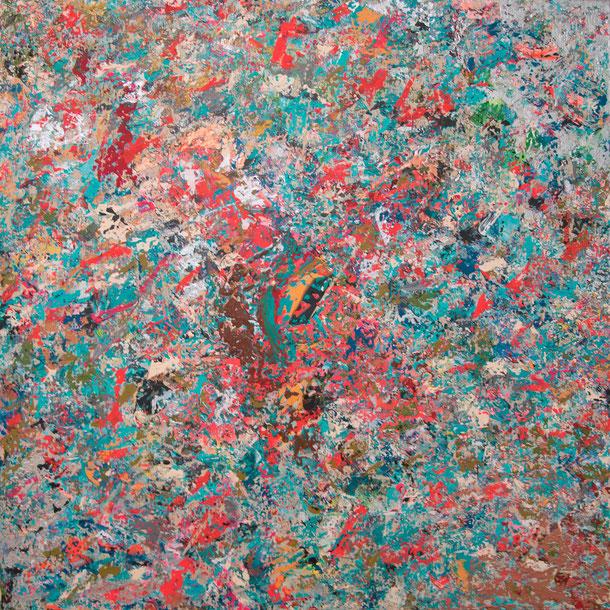 "Titel: ""GOD SAVE THE RAINBOW"" (2016), 70 cm x 70 cm"
