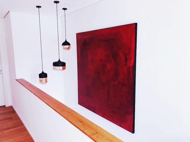 rote abstrakte große Bilder malen lassen