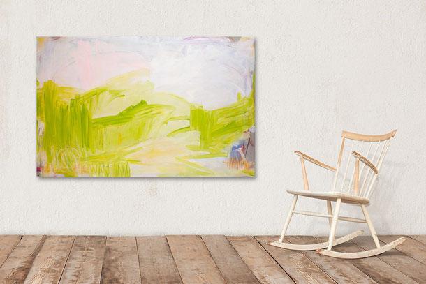 grünes Gemäde - Abstrakte Malerei