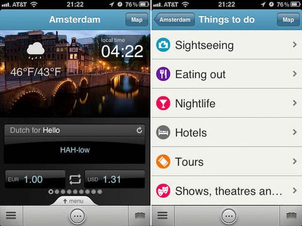 Triposo - мобильное приложение - тургид
