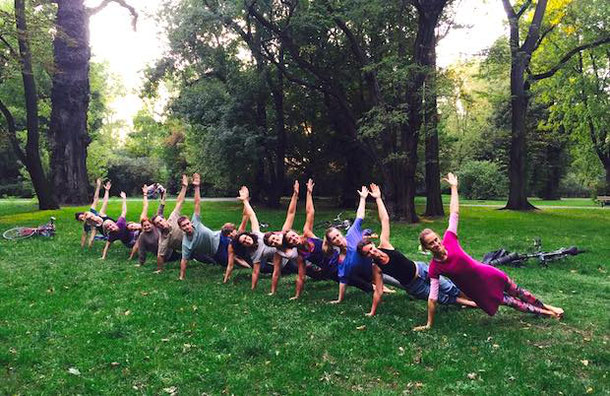 Yoga in the park, Warsaw