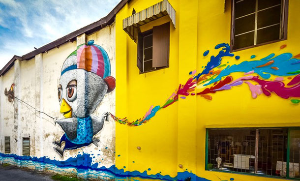 Hunt for street art in Phuket Old Town: the Alternative Travel Guide to Phuket