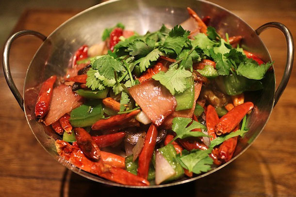 Супер острый салат с чили