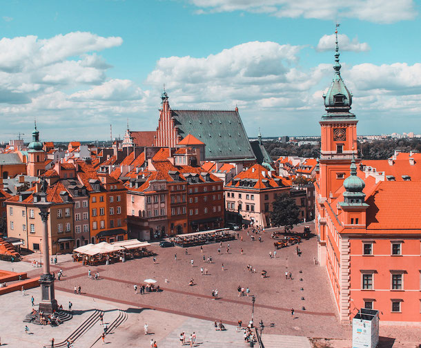 The best viewpoints in Warsaw