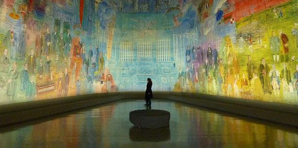 in the less known Paris Museum - Palais de Tokyo