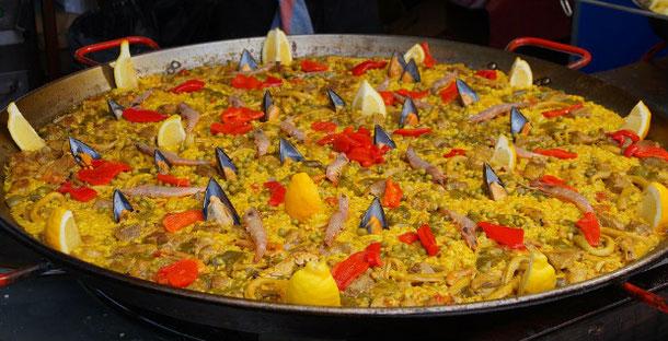 паэлья с морепродуктами на Канарских островах