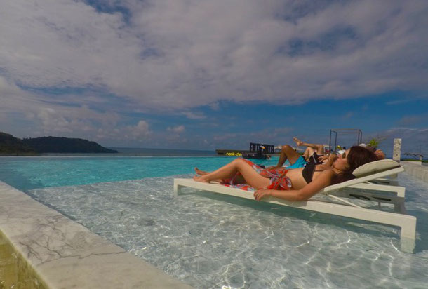 Infinity pool in Foto Hotel in Phuket, Kata Beach