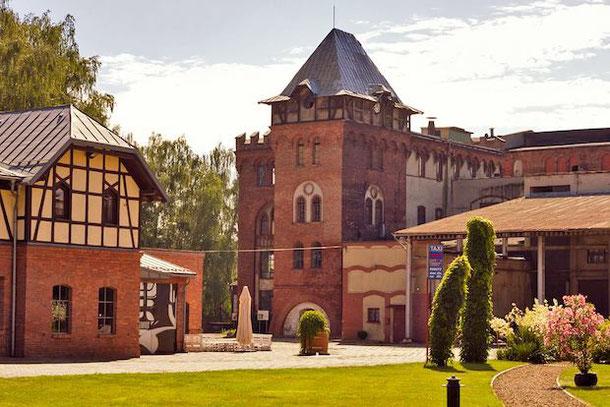 Бровар Обывательских в Тыхах возле Катовице - культурный центр в бывшей пивоварне