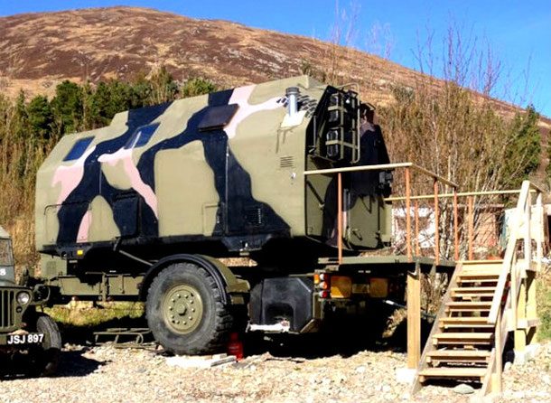 Unusual airbnb rental - military pod