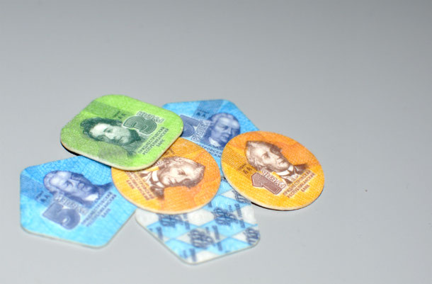 Plastic money Transnistria, Tiraspol
