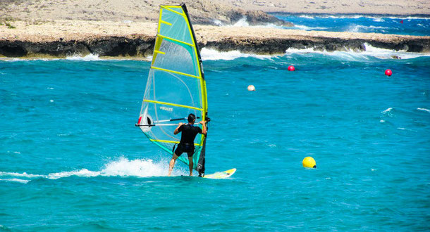 Try windsurfing in the Canary Islands