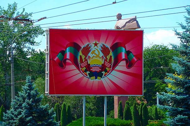 Transnistria symbol, travel to Transnistria