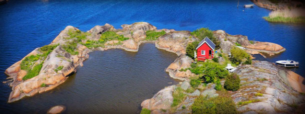 Private island for rent in Norway