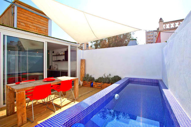 Shipping container with pool - unusual airbnb house