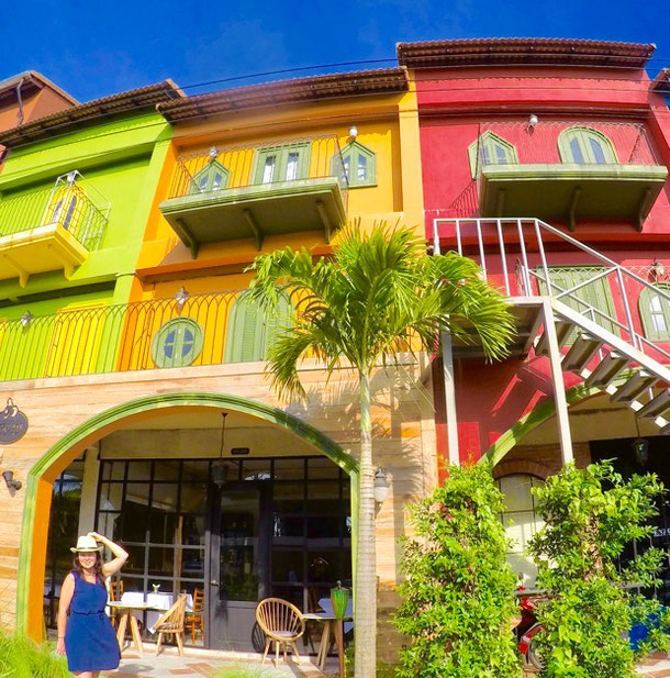 Colorful houses in Khao Lak