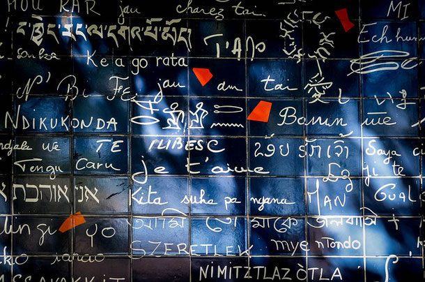 The Wall of Love in Paris