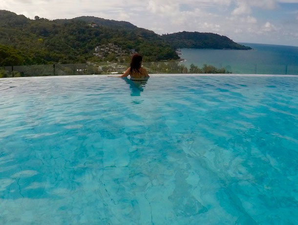 The hotel in Phuket with infinity pool and rooftop panorama