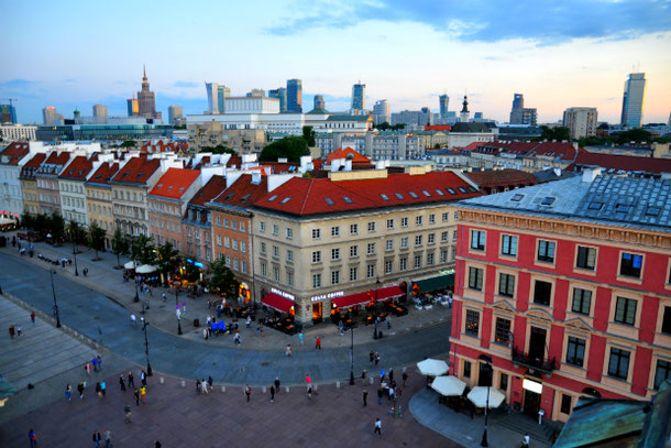 Warsaw viewpoint panorama Old Town Poland travel guide